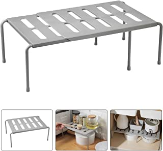 OFNMY Estante para Armario Retráctil Multifunción Ajustables 36-69cm para Organizador de Cocina, Baño, Maquillaje, Escritorio,etc