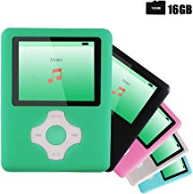 $20 Get Ultrave MP3/MP4 Player with 16G SD Card, Portable Lossless Sound Player, Rechargeable MP3 Player, Also Support Ebook, Image, 1.8 inches LCD Screen MP3 Music Player - Signalgreen