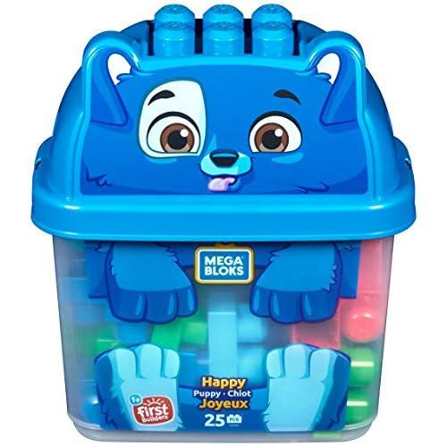 Mega Bloks Secchiello Cucciolo, Cagnolino, Gioco di Costruzione da 25 pezzi, Giocattolo per Bambini 1+ anni, GFH49