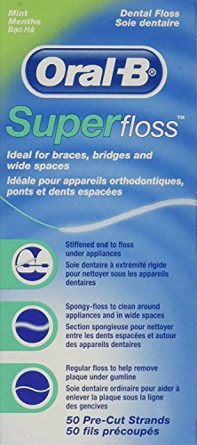 Super Floss Mint Pre-Cut Strands (Pack of 12)
