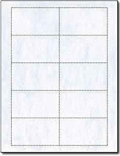 Blue Jade Marble Business Card Sheets - 2 Sided Design - Blank on Both Sides - for Inkjet & Laser Printers - 25 Sheets / 250 Business Cards