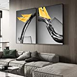 Diamante Dipinto a Mano Set Nordico Bianco e Nero Vento industriale decorazione astratta soggiorno Sala da pranzo 140x90cm A