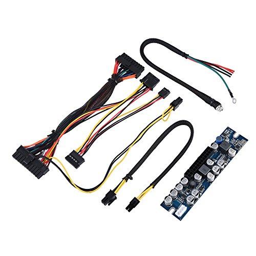 Bewinner 300W-Netzteilmodul für Mini-ITX- und 1-U-Gehäuse-PC-Netzteil, DC-12-V-Eingang, 300W-Computer-Netzteilmodul mit 24-Pin-Anschluss/AUX/SATA-Kabel