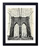 Brooklyn Bridge New York City Upcycled Vintage Dictionary Art Print 8x10