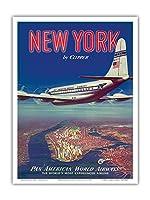 - ビンテージな航空会社のポスター c.1950 - アートポスター - 23cm x 31cm