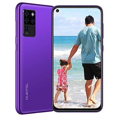 OUKITEL C21 Smartphone ohne Vertrag 4G (2020) Handys Android 10 (6,4 Zoll) 1080P Display - 20MP AI Selfie 16MP Quad-Kamera, Octa-Core Handy Helio P60 4GB+64GB 256GB erweiterbar 4000 mAh Akku Dual SIM