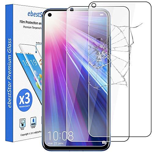 ebestStar - [Lote x3 Cristal Templado Compatible con Honor 20 Protector de Pantalla, Película Vidrio Protectora Ultrafina, Dureza 9H, Sin-Burbujas [Honor20: 154.3 x 74 x 7.9mm, 6.26'']