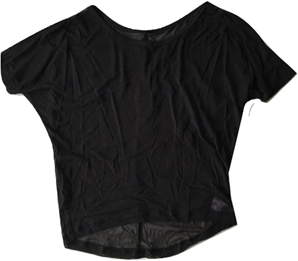 L C Boutique Girls Sheer Dance Top in Sizes to fit Ages 6-12