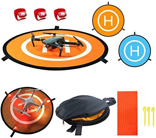 55 cm Piattaforma di Atterraggio Drone Landing Pad Adatto a DJI Mavic Air, Tello, DJI Spark, Dobby