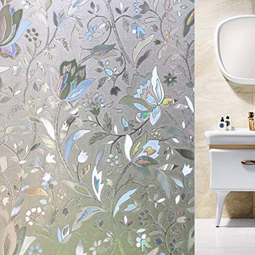 CHIMIVV 3D raamfolie, antislip, elektrostatisch, raamfolie, tulpen, raamsticker, decoratiefilm. 45 cm, 60 cm, 90 cm