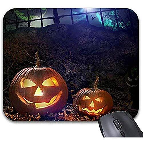 Mousepad Halloween Night Zombie Skull Kürbisse Light Grills Mousepad Schreibtischzubehör Mousepad 25X30Cm