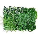 Cerca de Jardín 40x60cm Planta de cerca artificial Panel de cobertura UV Privacidad Privacidad Pantalla de valla para jardín al aire libre Cerca de decoración de jardín Protector solar duradero de alt