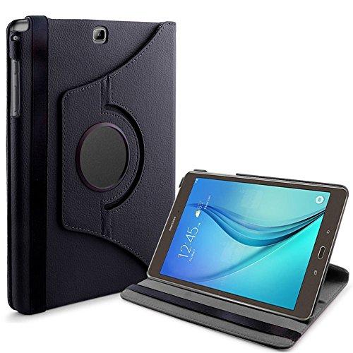 Lobwerk Tasche für Samsung Galaxy Tab A SM-T550 T551 T555 9.7 Zoll Schutz Hülle Flip Tablet Cover Case (Schwarz) NEU