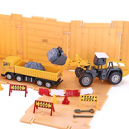 iPlay, iLearn Construction Site Vehicles Toy Set
