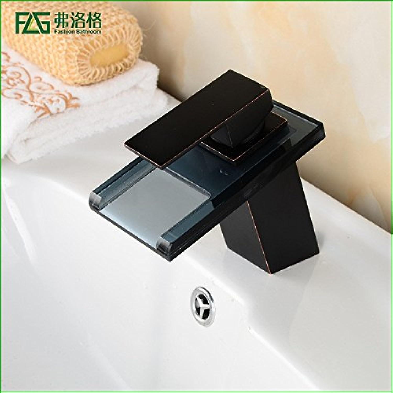 Lvsede Bad Wasserhahn Design Küchenarmatur Niederdruck Vollkupfer Glas Wasserfall Wasser Waschbecken Waschtischmischer G1827