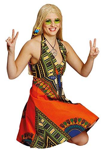 Mottoland Hippie-Kleid in bunt   Größe 42   Hippi-Kostüm für Damen (42)