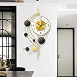 GoodWell Moderne minimalistische leichte luxusdekoration wanduhr Wohnzimmer Home esszimmer Mode kreative personalität Kunst Stern zeituhr, 37 * 72 cm