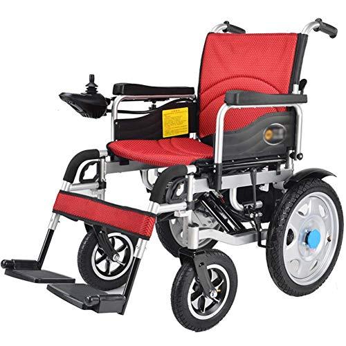 XSARACH elektrische rolstoel, opvouwbare en gemakkelijk te bedienen rolstoel, intelligente automatische elektrische rolstoel, zitbreedte 45 cm, 360 graden, gewicht 120 kg