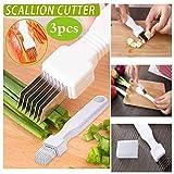 Zooarts 3PCS Shred Silk The Knife Vegetable Garlic Cutter Food Speedy Chopper Kitchen | Shred Silk...