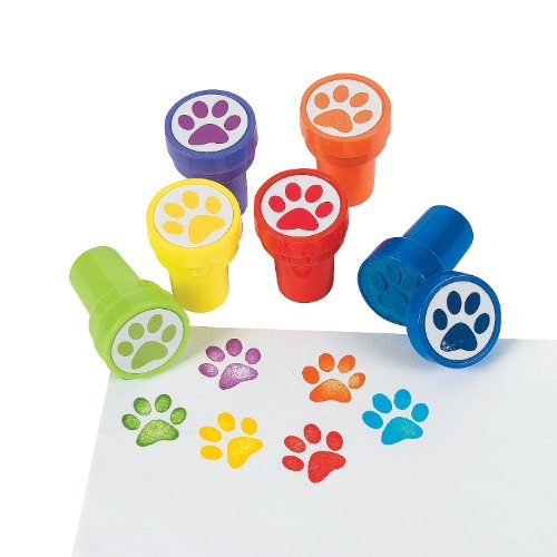 Paw Print Stampers - 24 Pieces - Educational And Learning Activities For Kids