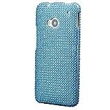 HTC One M7 | iCues 2 la caja del Rhinestone Parte turquesa | [Protector de pantalla, incluyendo] Bling de las señoras muchachas de las mujeres de piel protectora Strass Funda Carcasa Bolsa Cover Case