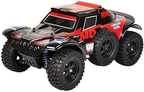 WGFGXQ Rojo Grande 1/12 Escala Coche de Control Remoto 4x4 Big Foot Todo Terreno RC Camión de Juguete 40 km/h Alta Velocidad Off Road RC Vehículo de Carreras Profesional 2.4GHz Recargable Coche R