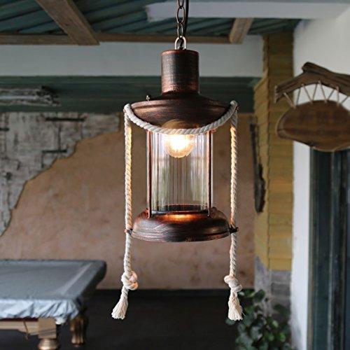 WWWWW Retro Nostalgie Hennep touw kroonluchter American Cafe Bar-functie licht Studio creatieve wegen kroonluchter ideaal voor woonruimtes plafondlamp