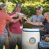 Powerblanket PBICEKEGIP Powerblanket Ice Keg Cooler, 1/2 Barrel Beer Keg Insulated Ice Pack Cooling Blanket, 65.75' Length, 1' Height, 26.25' Width, White
