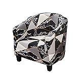 Facai - Funda para sillón Chesterfield tubular elástica, protector de sillón tubular extensible, estampado geométrico, funda de silla de sofá lavable #7