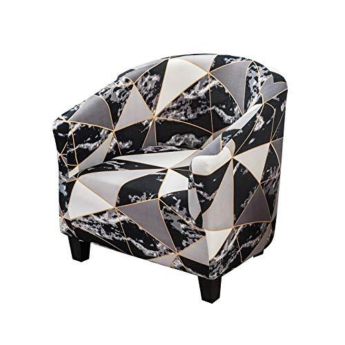 Facai Sofabezug, Chesterfield, elastisch, Sesselschoner, Schlauch, dehnbar, geometrischer Druck, Bezug für Sofa, waschbar #7