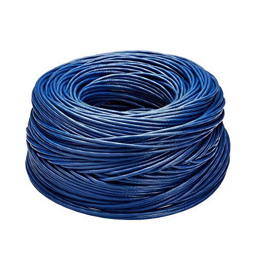Amazon Basics - Cable de Ethernet liso Cat6, 23 AWG (23,27 mm), UTP de 304,8 metros en Azul