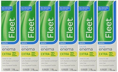 Fleet Saline Laxative Enema 7.8 oz (Pack of 6) by Fleet