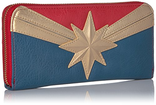 Loungefly Marvel Captain Marvel Zip Around Wallet