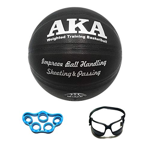 Find Bargain AKA Weighted Leather Basketball Training Set Bundle| Heavy Basketball Equipment Bundle ...