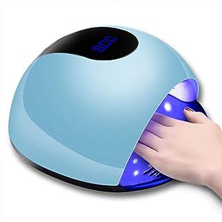 Wsaman Lámpara LED Uñas, Secador Uñas, con 4 Temporizador Sensor Automático Pantalla LCD para Manicura/Pedicura Esmalte Uñas,Azul