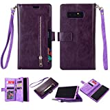 SUPZY Galaxy Note 8 Case, Leather [9 Card Slots] [Photo & Wallet...