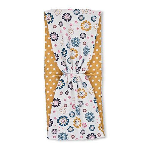 Sterntaler Mädchen-Stirnband, Blumenmotiv, Größe: 47, Farbe: Ecru, 1802104.0