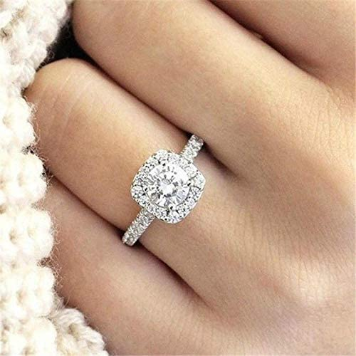 Duan Fashion Ring Cushion Cut 4ct 5A Zircon Stone 925 Sterling Silver Engagement Wedding Band product image
