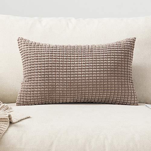 MIULEE 1 Stück Cord Weiches Massiv Dekorativen Quadratisch Überwurf Kissenbezüge Kissen für Sofa Schlafzimmer Auto 12