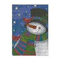 Tooart 12 * 16インチクリスマスDIY 5Dダイヤモンド塗装キットフルドリルダイヤモンド塗装サンタ雪だるまパターン樹脂ラインストーンモザイク刺繍クロスステッチクラフト家の壁の装飾ギフト