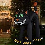 Haunted Hill Farm HIBCAT101-L Black 10 ft Cat Halloween Blow Up Inflatable