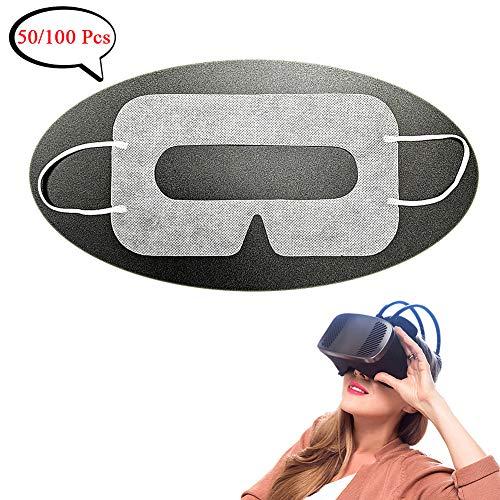 YinQin Universal Einweg-VR-Cover VR-Maske für VR, Sanitär VR Cover, VR Maske Einweg GesichtsCover für VR, VR Einweg Cover, VR Augen Cover, Weiß (50 Stück)
