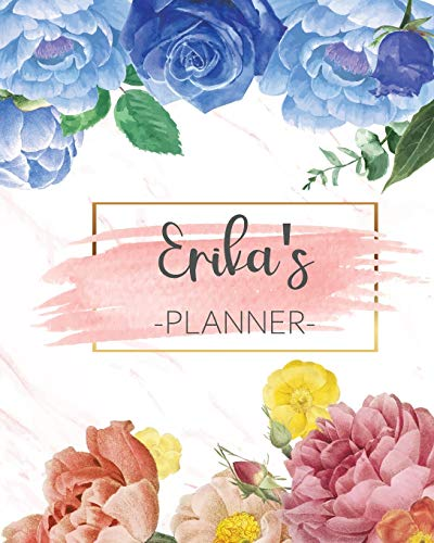 Erika's Planner: Monthly Planner 3 Years January - December 2020-2022   Monthly View   Calendar Views Floral Cover - Sunday start