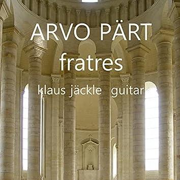 Fratres (Arr. For Guitar)