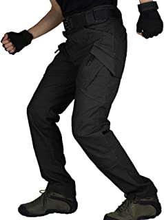 zuoxiangru Men Cargo Pants Men's Military Outdoor Work Pants Tactical Workwear Long Pants (Black, US 34=Tag XL)