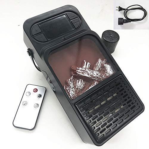 NBMN Estufa Eléctrica Calefactor Mini Portátil Doméstico Pequeño Calentador Llama Bajo Consumo Handy Heater 500W para Oficina/Dormitorio/Hogar
