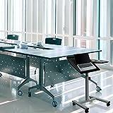 hjh OFFICE 830019 Stehtisch Laptop Stand I Stehpult neigbar & höhenverstellbar Metall-Gestell, Höhe: 53,5-85 cm, Schwarz/Grau - 4