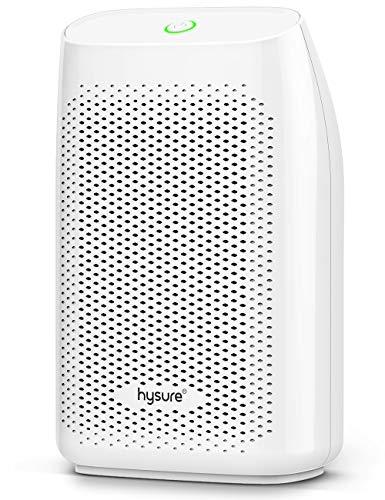 Hysure Mini Entfeuchter, 700ml Kapazität, Wasser voll automatische Abschaltung, super kompakt leise Feuerzeug Peltier Entfeuchter, Feuchtigkeit, Schmutz und Schimmel resistent, Luftreinigung, weiß