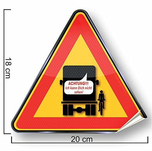 ToterwinkelAufkleber Warnzeichen Sicherheitsaufkleber für LKW und Busse, toter Winkel Aufkleber, Warnzeichen-Sicherheitsaufkleber Dieser Aufkleber für den LKW oder für Busse,