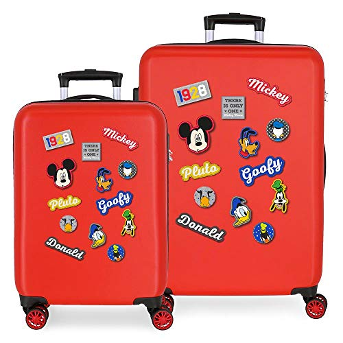 Disney (DIYL9) Disney (DIYL9) Have a good day Mickey Infantil, Rot (Rojo)